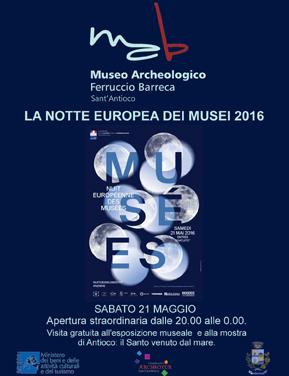 Locandina Notte dei Musei 2016