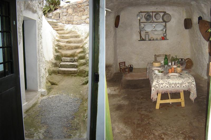 Villaggio Ipogeo, scala d'accesso e tavola