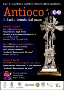 Locandina mostra Antioco, il santo venuto dal mare