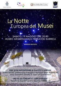 Locandina La Notte Europea dei Musei
